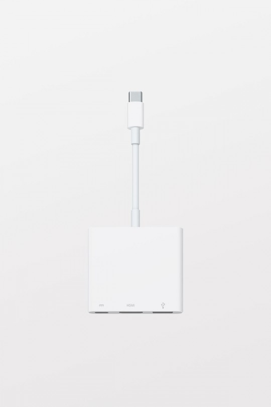 Apple USB-C Type-C Digital AV Multiport Adapter  - Charge iPad Pro, connect an HDTV or HDMI display, and use a USB-A device — all at the same time.
