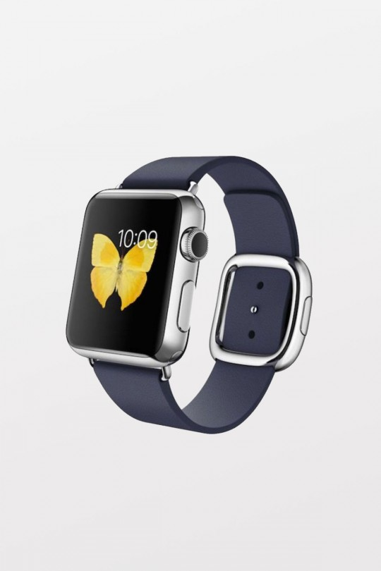 Apple Watch 38mm -  Polished Stainless MIDNIGHT BLUE MODERN BUCKLE L