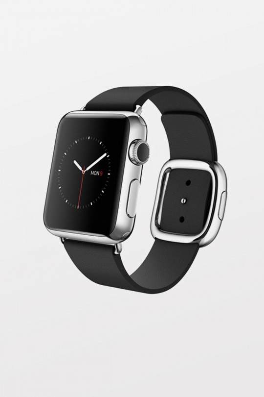 Apple Watch 38mm - Stainless Steel - Black Modern Buckle (Medium)