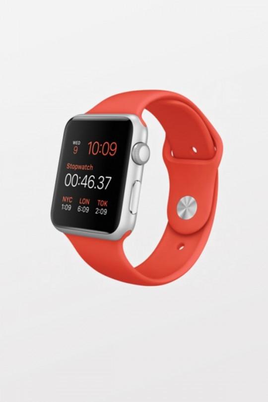 Apple Watch Sport 42mm - Silver Aluminium - Orange Sport Band - Refurbished