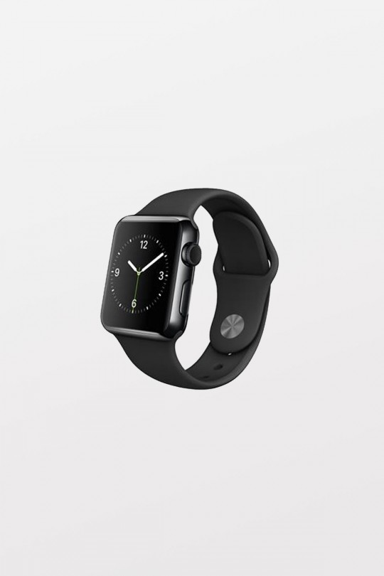Apple Watch 38mm -  Space Black Stainless - Black Sport