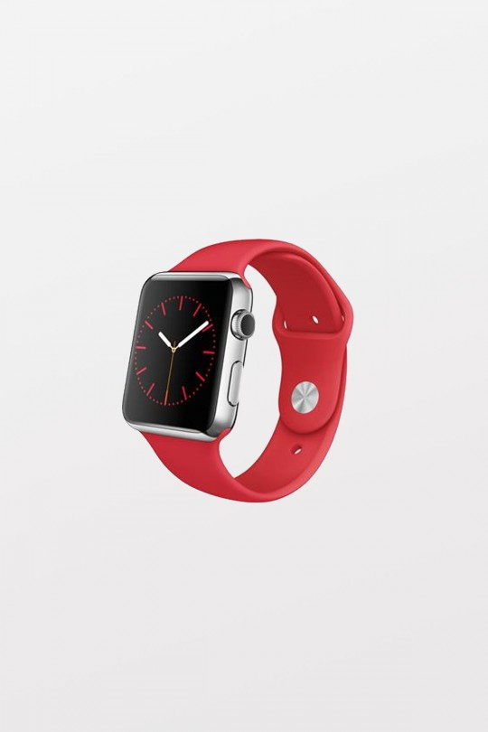 Apple Watch Sport 38mm - Stainless Steel - Red Sport Band