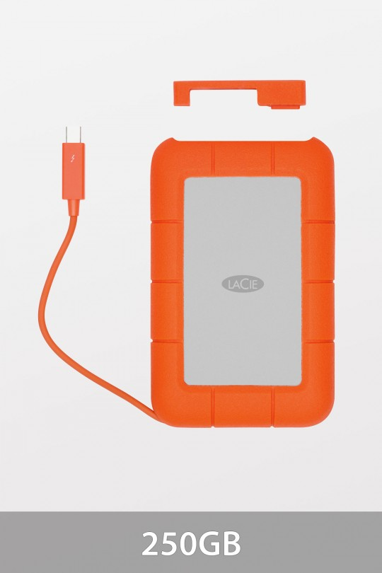 LaCie SSD Rugged Mobile Drive with USB3.0 & Thunderbolt - 250GB