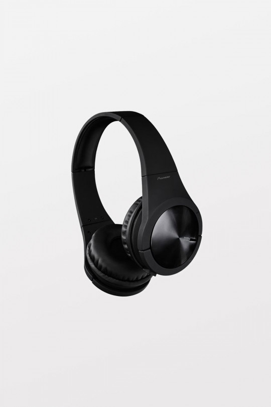 Pioneer Black Superior Club Sound Headphones with matte rubber finish