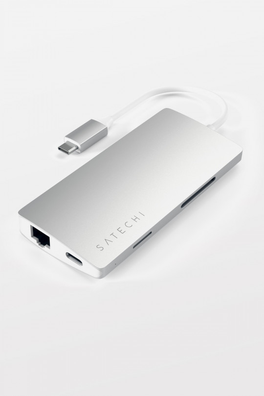 Satechi USB-C Multi-Port Adapter 4K HDMI w/ Ethernet V2 - Silver