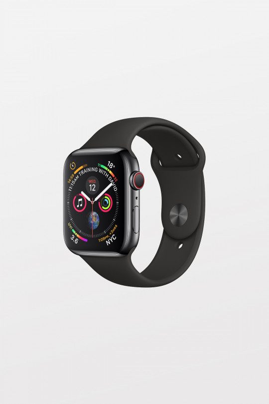 Apple Watch Series 4 GPS + Cellular - 40mm - Space Black Stainless Steel Case with Black Sport Band - Refurbished
