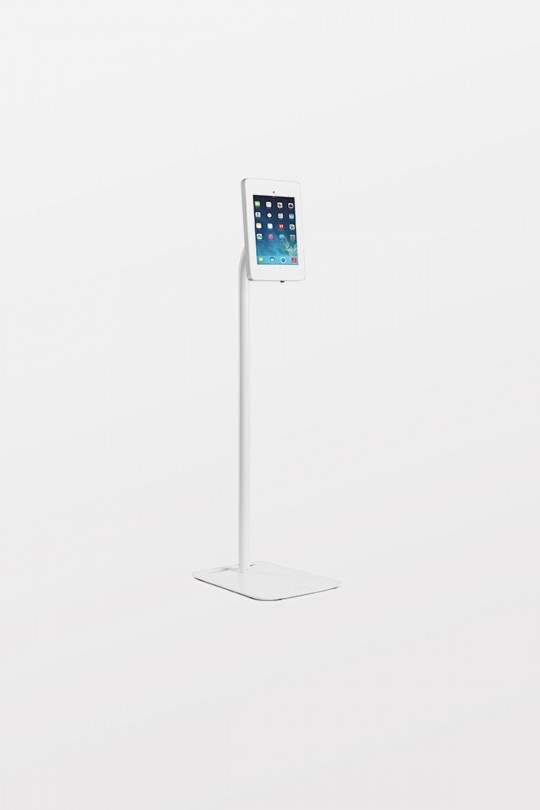 Tryten iPad Pivot Floor Stand - Black - Comes with Lock and 2 user keys. Includes black adapter kit for iPad Air