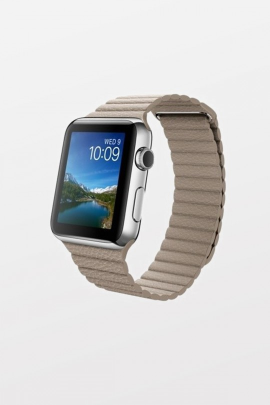 Apple Watch 42mm - Stainless Steel - Stone Leather Loop - Refurbished